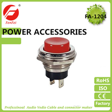FENFEI push botton switch made in china,red push off switch power accessories