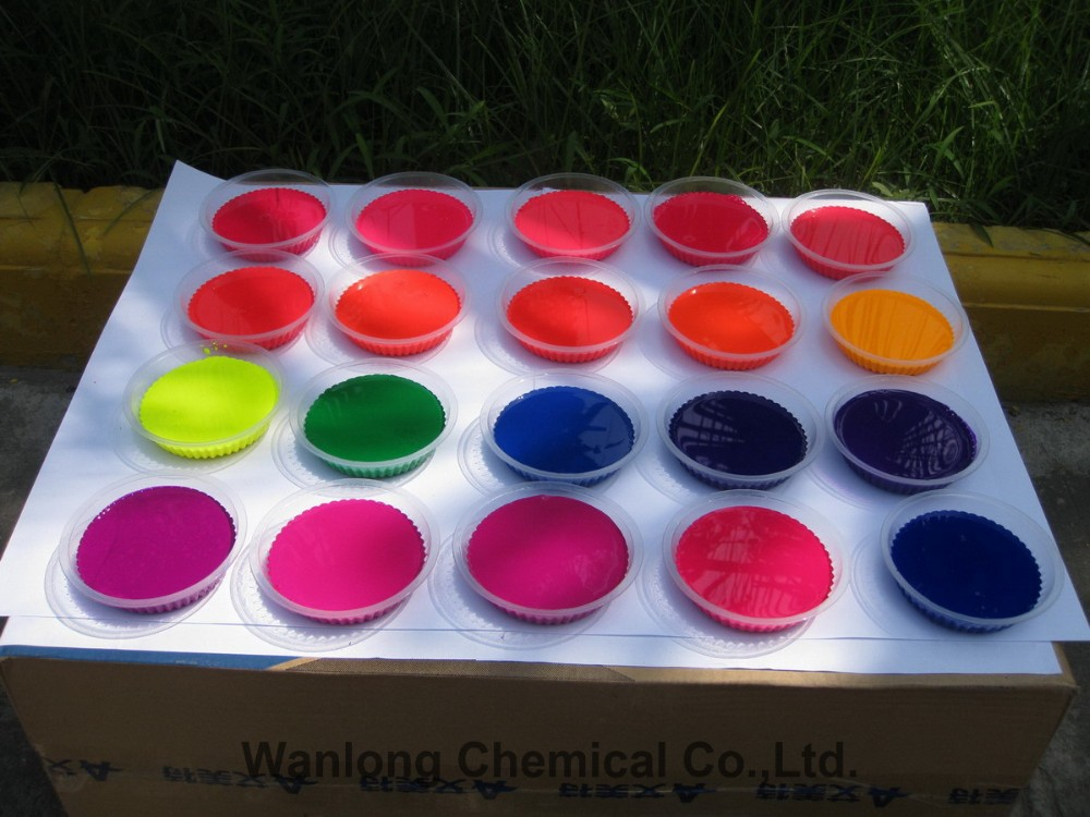 Fluorescent water based pigment paste