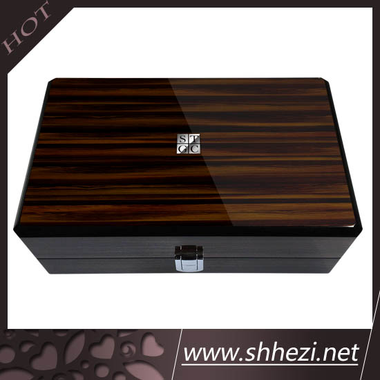 high end custom made watch box , wooden box vanished with piano paint