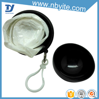 Hot selling cheap plastic ball shape disposable rain poncho for promotional gift