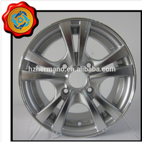 15inch 4*100 bolt pattern aluminum alloy wheel rim with nuts