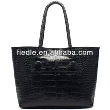 2014 hot sale lady handbag leather braiding bag