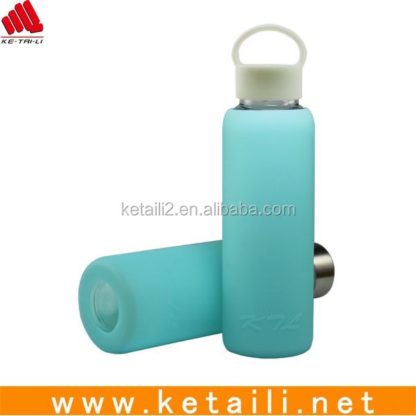 Fashion OEM Design Top Quality Glass Water Bottle Silicone Sleeve