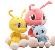 soft toy stuffed colorful plush ant Plush china toys import colorful ant king