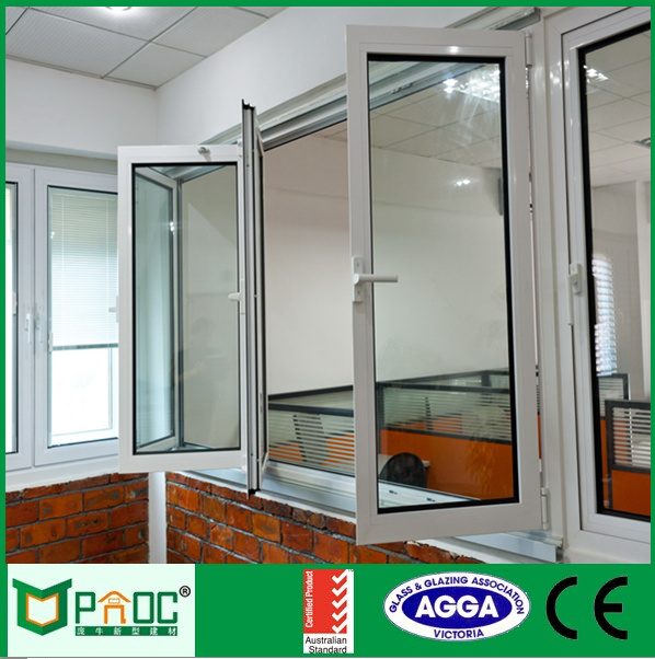 Interior aluminium bifolding window and door with double tempered clear glazing for Australian standard AS2047 PNOC0008BFW