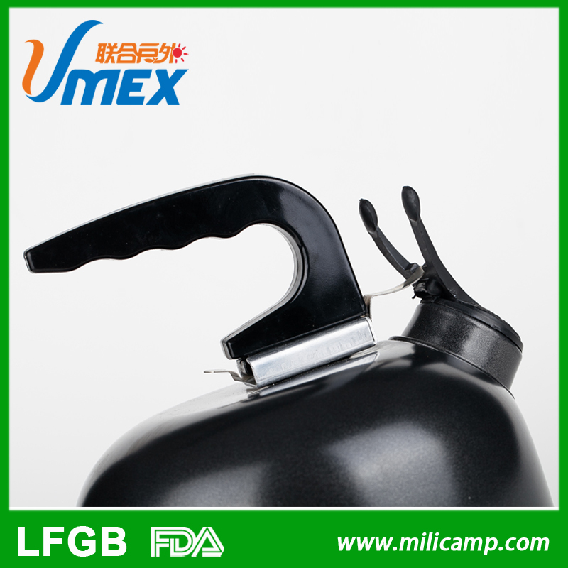 Aluminium 1L camping water kettle, handle disassembly BB pot, camping aluminium BB whistle kettle