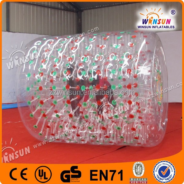Best popular 1.0mm PVC customized size inflatable rolling ball for kids