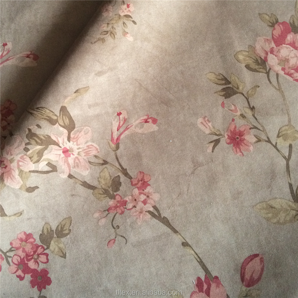 Flower printing warp knitted velvet sofa/cushion/chair cover fabric for upholstery