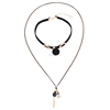Fancy Layered Necklace Charm Trendy Pom