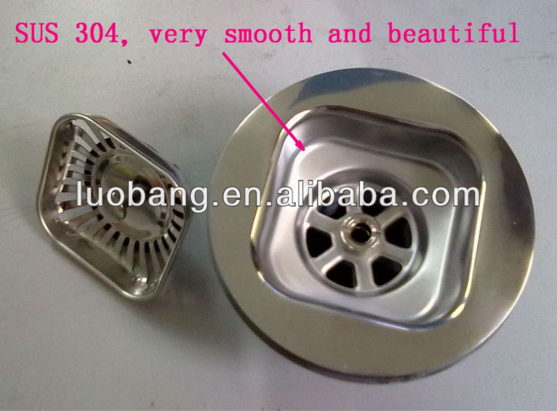 popular in Australia Plastic and Stainless Steel Square Sink Strainer LB-9157