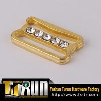 Brand new customized golden rhinestone shoe accessories