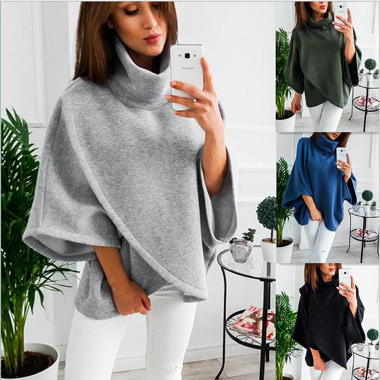 Autumn Women Christmas Clothes Sweater Winter Scarf Collar Long Sleeve Pullovers Fashion Casual latest Style Sweater