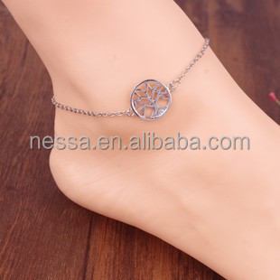 Fashion anklet jewelry brand names list NSAK-23