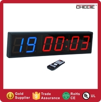 6 digit led digital display training timer double color count up /down timer