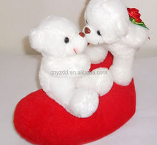 Free sample red heart teddy bear stuffed toy and teddy bear plush