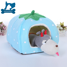 Catroon Fruit Dog Bed Cave Cute Strawberry Pet House Dogs And Cats