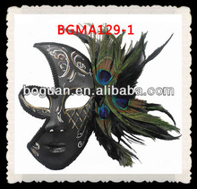 Cool Peacock Feather Masks Gothic Venetian Half Face