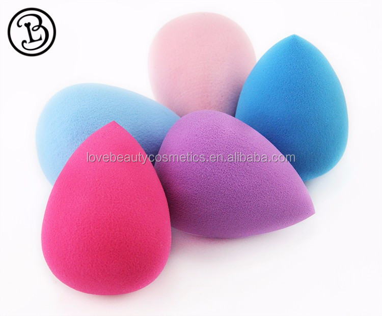 Hot selling non latex multi color beauty makeup sponge