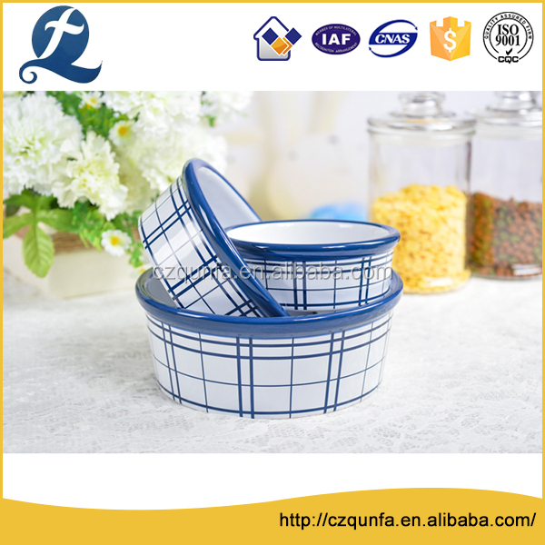Wholesale price custom stand dog stoneware feeding bowl with grain