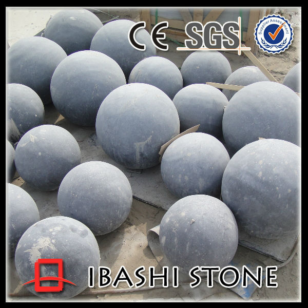 Chinese natural blue limestone cobble ball