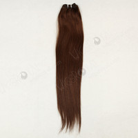 long straight Brazilian human hair weave color #4