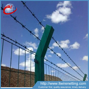 hot sale new products chain link fence top galvanize barbed wire