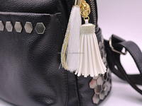 Threads & Leather Tassels Key Chain Cute Bowknot Rhinestone Key Ring Women Bags Accessories Hanging Drop Car Hanging