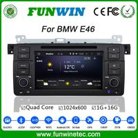 Funwin Android 4.4.4 car DVD player touch screen for BMW E46 multimedia WIFI 3G A9 cpu