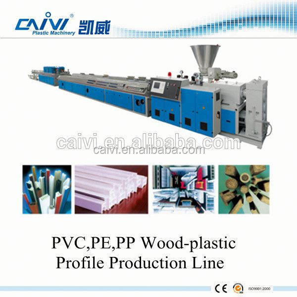 wood plastic composite profile extrusion machine / wpc decking machine / wpc ceiling making machine line