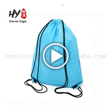 Promotional new style non woven drawstring backpack bag