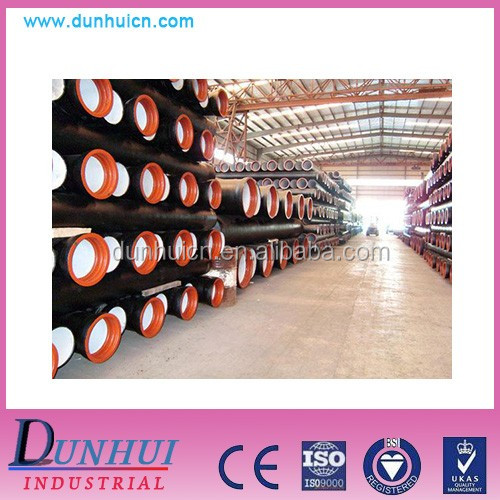 High quality Round Shape and Ductile Iron Material cement lined ductile iron pipe