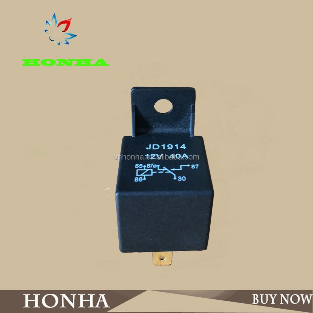 JD1914 High Quality 12v 5pin SPDT Professional Auto Relay 12V 40A Electromagnetic Relay