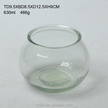 Round mouth glass aquariums for tropical fish
