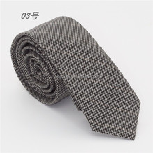 men's woven adjustable wool neck tie