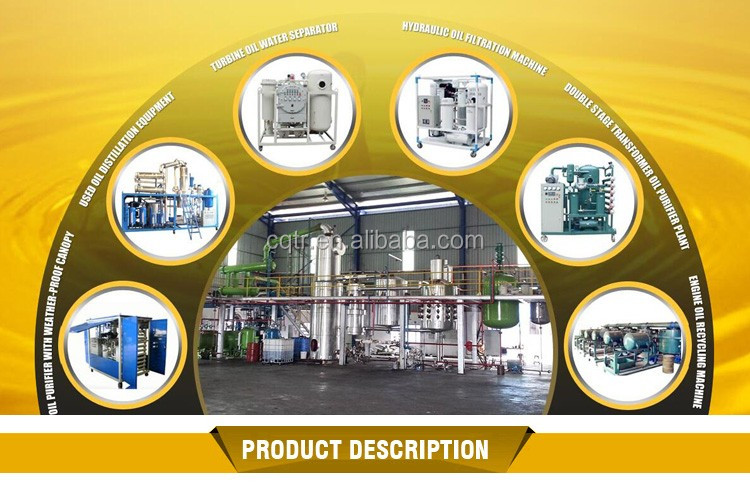 High Performance Transformer Oil Filtration Machine for Recycling waste oil to clean transformer oil