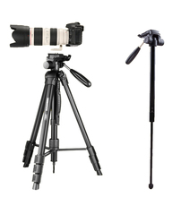 hot selling panoramic ball head tripod camera stand extension monopod with carrying bag