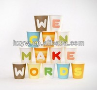 Colorful letter Disposable paper cup