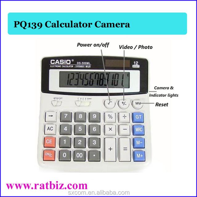 PQ139 Mini Calculator Video Recorder DVR Calculator Camera with 720 x 480