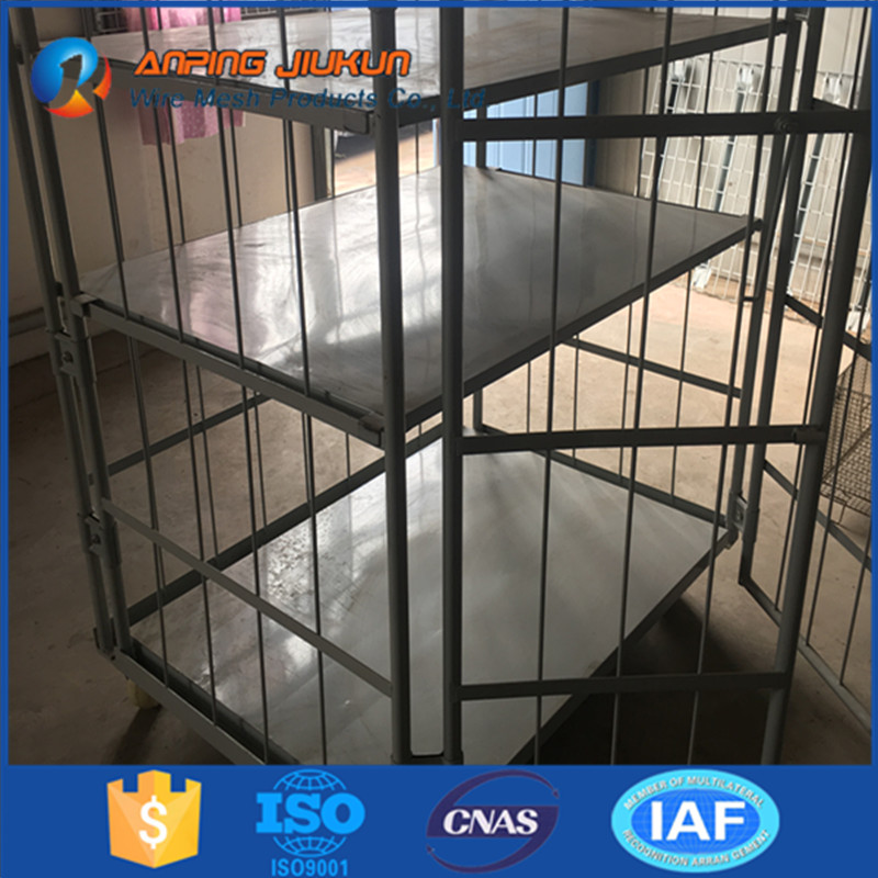 Brand new folding steel metal box mesh pallet box cage pallet welded pallet storage european wire mesh cages