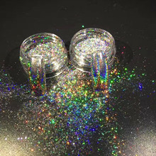 Newest Hot Pearl Pigments For Nail Polish Rainbow Effect Holographic Flakes