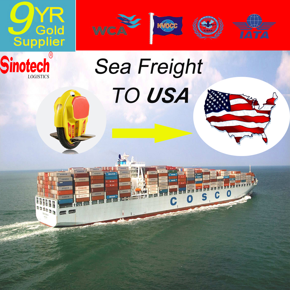 Cheap Sea Freight Shipping Service For self balance electric scooters From China to USA