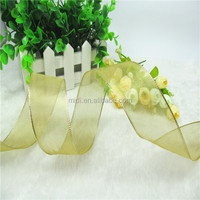 plain color nylon organza ribbon thinnish tape use for garment and packing