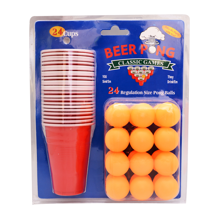 High Quality Promotion Double Blister Packing Beer Pong Game Set