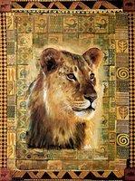 lion head oil painting