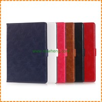 Hot sale Tablet Model book style Leather Wallet Case for ipad air 2