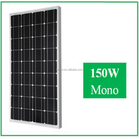 Good Quality and High Efficiency 150W mono Solar Panel for Nigeria market for home use