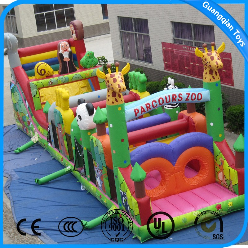 Newest Design Colorful Inflatable Obstacle Course for Sale