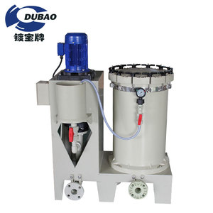 Dubao industrial filtering equipment for copper and nickel plating process