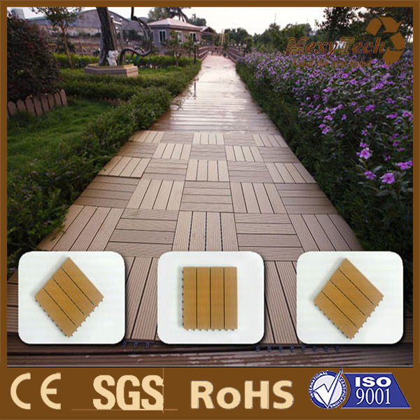 plastic composite wood DIY decking flooring /terrace flooring/community walkway decking
