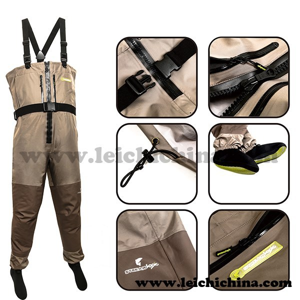 top grade breathable waterproof fishing chest waders